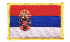 Serbia with coat of arms Patch, Badge - 3.15 x 2.35 inch