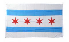 USA City of Chicago Flag for balcony - 3 x 5 ft.