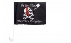 Pirate The Time Flies When You Are Having Fun Car Flag - 12 x 16 inch