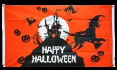 Happy Halloween orange Flag for balcony - 3 x 5 ft.