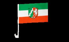 Germany North Rhine-Westphalia Car Flag - 12 x 16 inch