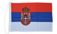 Serbia with coat of arms Boat Flag - 12 x 16 inch
