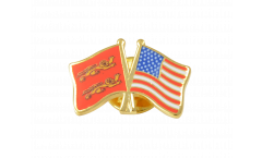 Basse Normandie - USA Friendship Flag Pin, Badge - 22 mm