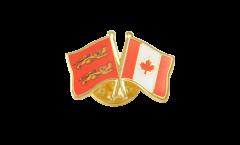 Basse Normandie - Canada Friendship Flag Pin, Badge - 22 mm