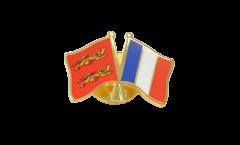 Basse Normandie - France Friendship Flag Pin, Badge - 22 mm