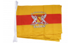 Germany Baden with coat of arms Bunting Flags - 12 x 18 inch