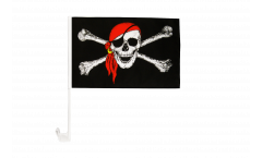 Pirate with bandana Car Flag - 12 x 16 inch