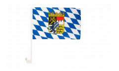 Germany Bavaria with coat of arms Car Flag - 12 x 16 inch