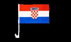 Croatia Car Flag - 12 x 16 inch