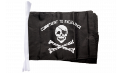 Pirate Commitment to excellence Bunting Flags - 12 x 18 inch