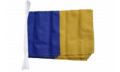 blue-gold Bunting Flags - 12 x 18 inch