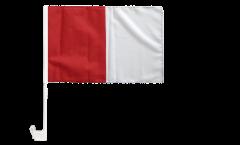 red-white Car Flag - 12 x 16 inch
