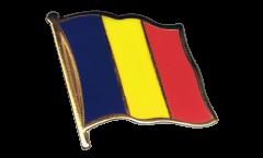Rumania Flag Pin, Badge - 1 x 1 inch