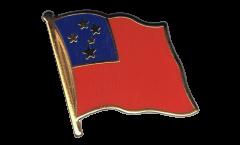 Samoa Flag Pin, Badge - 1 x 1 inch