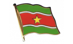 Suriname Flag Pin, Badge - 1 x 1 inch