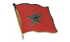 Morocco Flag Pin, Badge - 1 x 1 inch