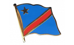 Democratic Republic of the Congo Flag Pin, Badge - 1 x 1 inch