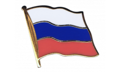 Russia Flag Pin, Badge - 1 x 1 inch