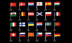 Football 2021 Table Flag Pack - 10 x 15 cm