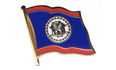Belize Flag Pin, Badge - 1 x 1 inch