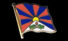 Tibet Flag Pin, Badge - 1 x 1 inch