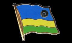 Rwanda Flag Pin, Badge - 1 x 1 inch
