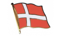 Denmark Flag Pin, Badge - 1 x 1 inch