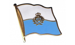 San Marino Flag Pin, Badge - 1 x 1 inch
