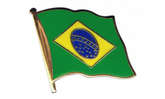 Brazil Flag Pin, Badge - 1 x 1 inch
