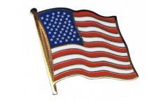 USA Flag Pin, Badge - 1 x 1 inch