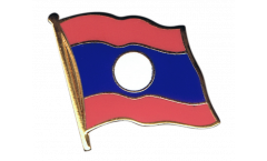 Laos Flag Pin, Badge - 1 x 1 inch