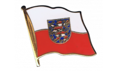 Germany Thuringia Flag Pin, Badge - 1 x 1 inch
