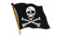 Pirate Flag Pin, Badge - 1 x 1 inch