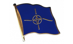 NATO Flag Pin, Badge - 1 x 1 inch