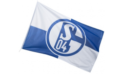 FC Schalke 04 Karo Flag - 3.3 x 5 ft. / 100 x 150 cm
