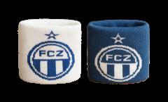 FC Zürich Wristband / sweatband, 2 pcs - 2.5 x 3.15 inch