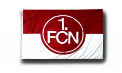 1. FC Nürnberg Logo red-white Flag - 3.3 x 5 ft. / 100 x 150 cm