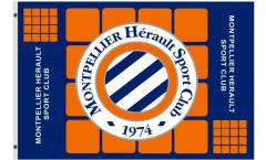 HSC Montpellier Flag - 3 x 5 ft. / 90 x 150 cm