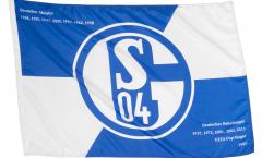 FC Schalke 04 Erfolge Hand Waving Flag - 2 x 3 ft. / 60 x 90 cm