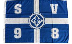 SV Darmstadt 98 Cross Flag - 2 x 3 ft. / 60 x 90 cm