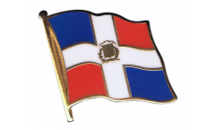 Dominican Republic Flag Pin, Badge - 1 x 1 inch