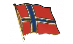 Norway Flag Pin, Badge - 1 x 1 inch