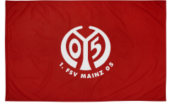 1. FSV Mainz 05 Logo Flag - 3.3 x 5 ft. / 100 x 150 cm