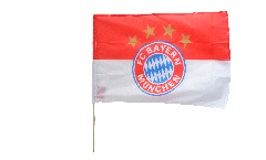 FC Bayern München Logo Hand Waving Flag - 2 x 3 ft. / 60 x 90 cm
