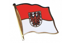 Germany Brandenburg Flag Pin, Badge - 1 x 1 inch