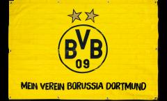 Borussia Dortmund Flag - 3.3 x 5 ft. / 100 x 150 cm