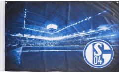 FC Schalke 04 Flag - 3 x 4.5 ft. / 90 x 140 cm