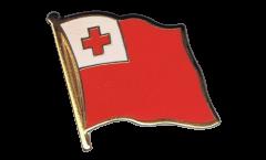 Tonga Flag Pin, Badge - 1 x 1 inch