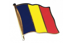 Chad Flag Pin, Badge - 1 x 1 inch
