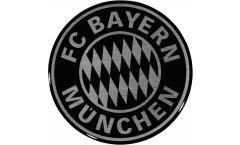 FC Bayern München Black Sticker - 2.35 x 2.35 inch